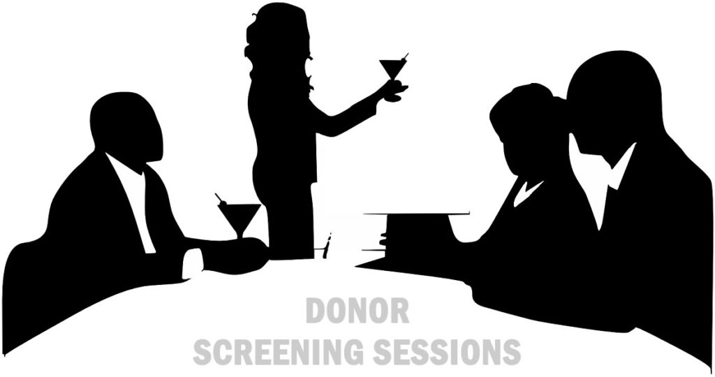 Donor screening sessions